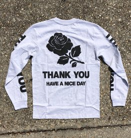 Chinatown Market Thank You Long Sleeve ash grey