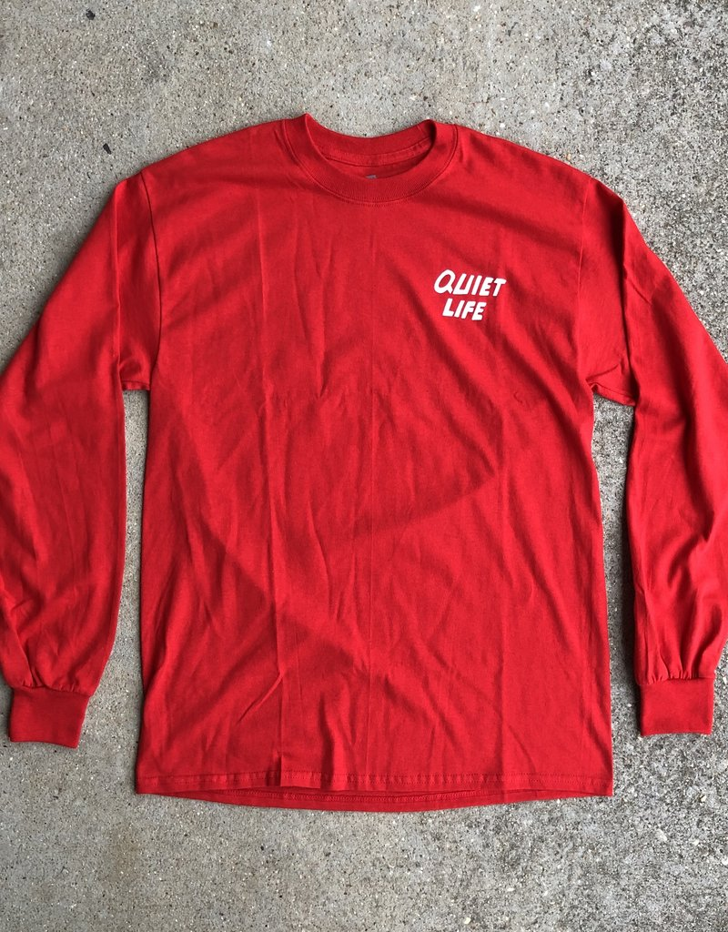The Quiet Life Smiley Long Sleeve Red