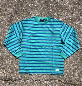 XLarge Border Stipe Longsleeve Green/Blue