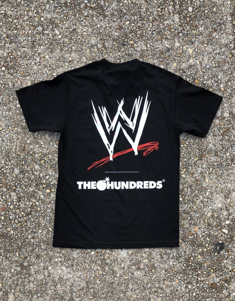 The Hundreds x WWE Tee Black