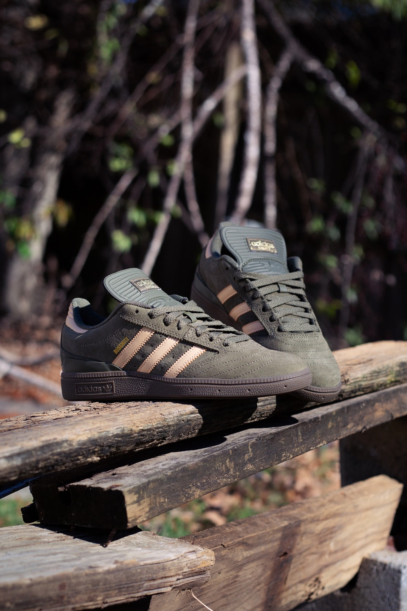 adidas Busenitz Olive/Glo Orange