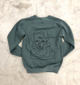 Rukus Faces Crewneck blue spruce