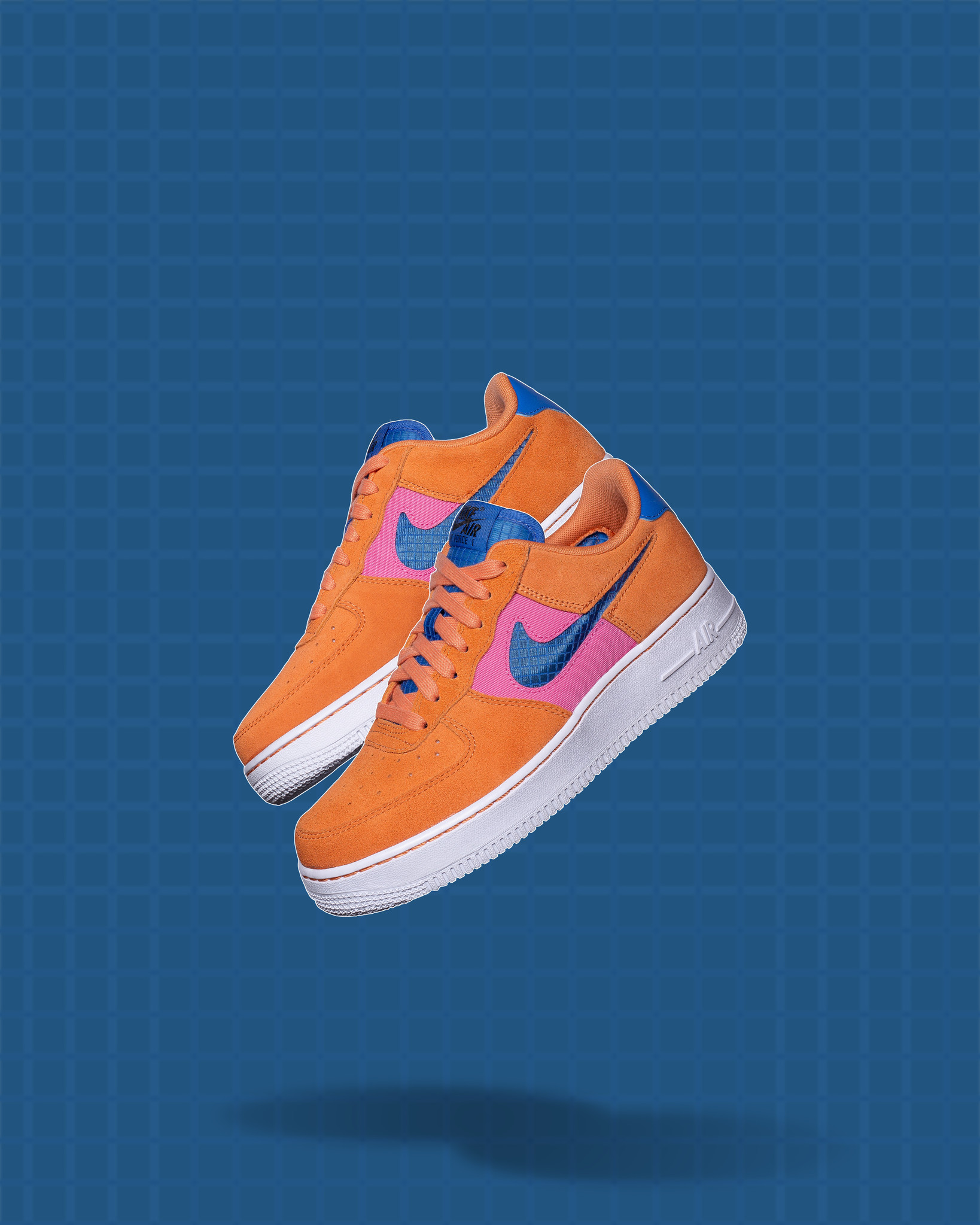 Nike Air Force 1 '07 LV8 Orange/Pacific Blue