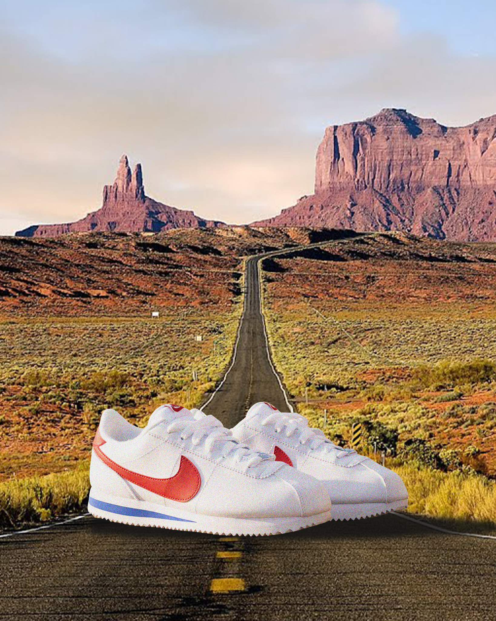 Nike Nike Cortez white/red/blue
