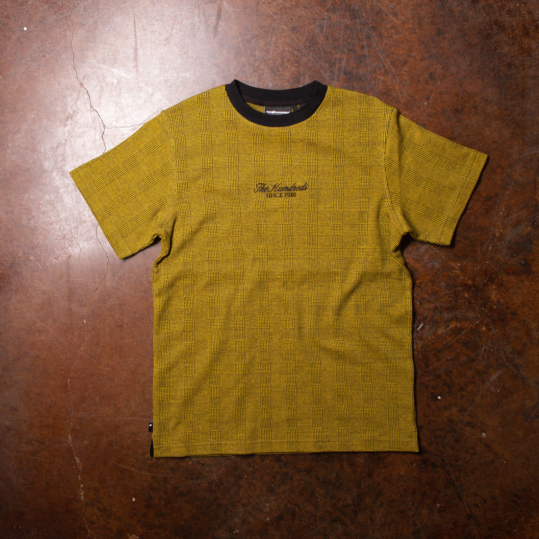 The Hundreds Houndstooth Tee Yellow