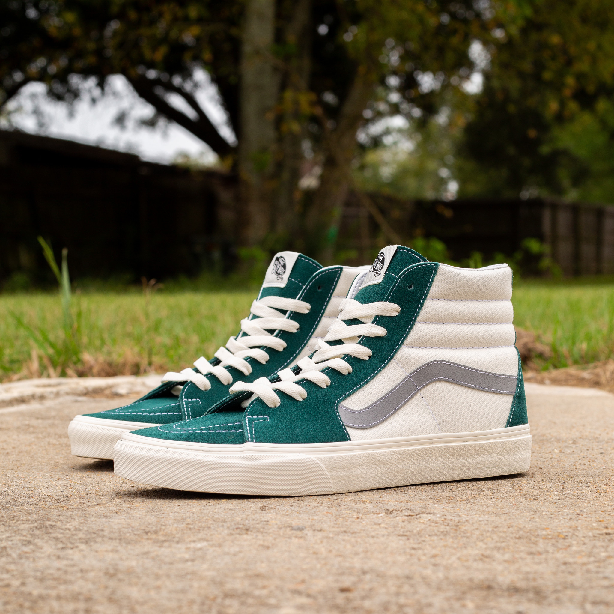 Vans Sk8 Hi Retro Sport Sail/Forest Green
