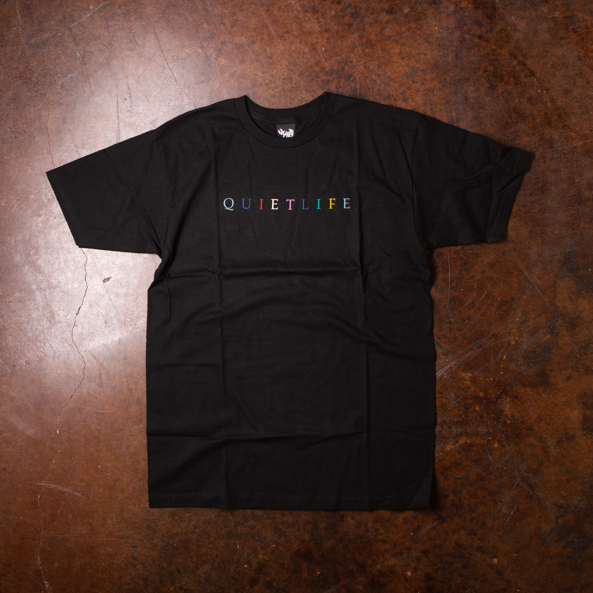 The Quiet Life Rainbow Tee Black