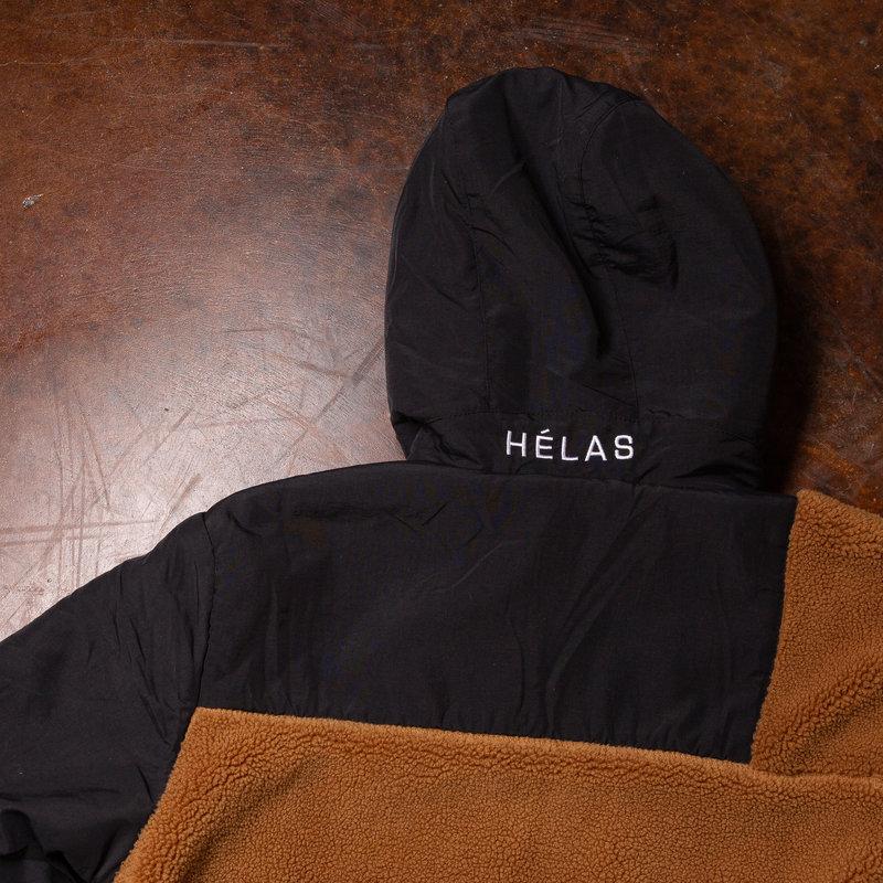Helas Moonlight Hooded Zipper Fleece Brown