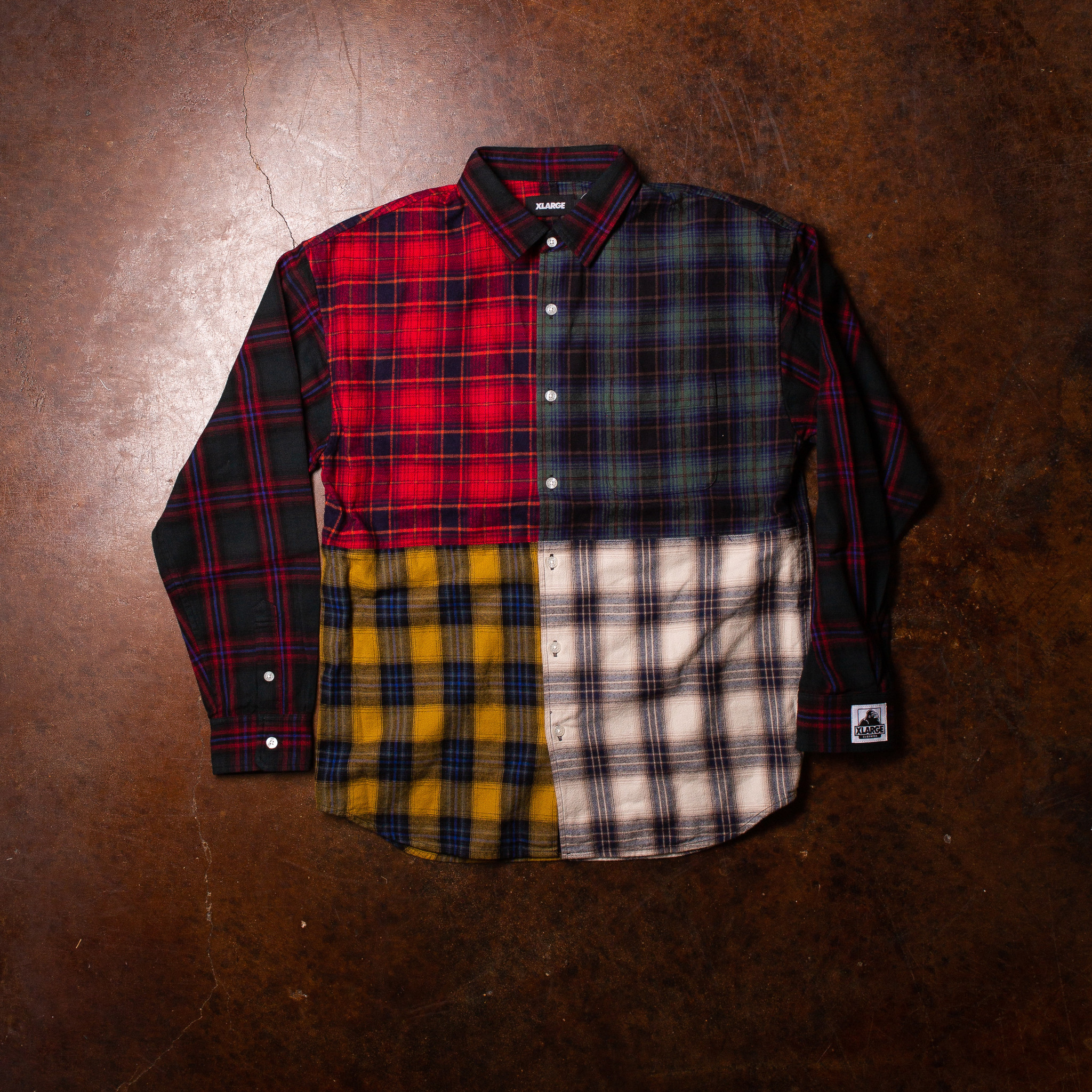 XLarge Patchwork Over Shirt
