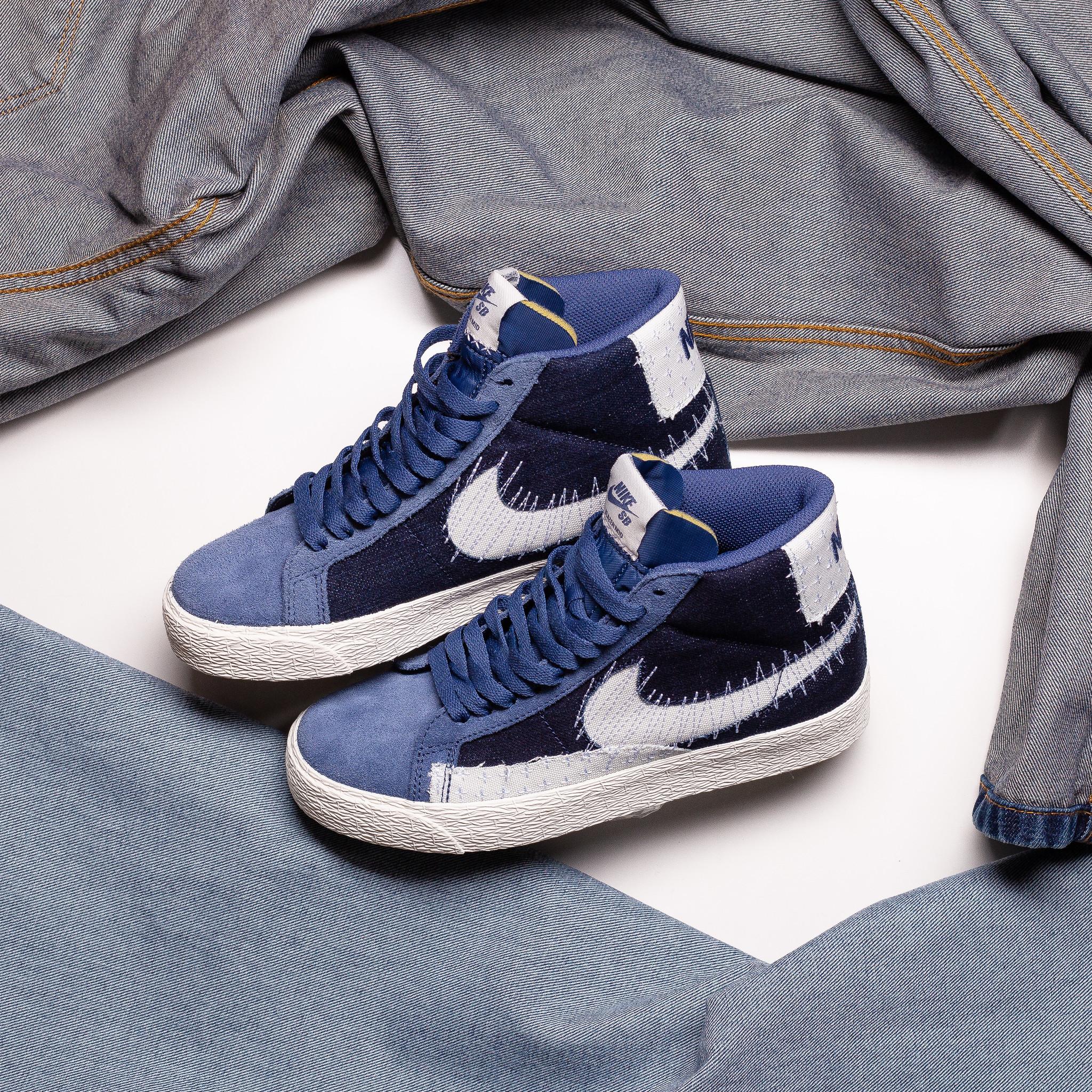 Nike SB Blazer Mid Sashiko Mystic Navy