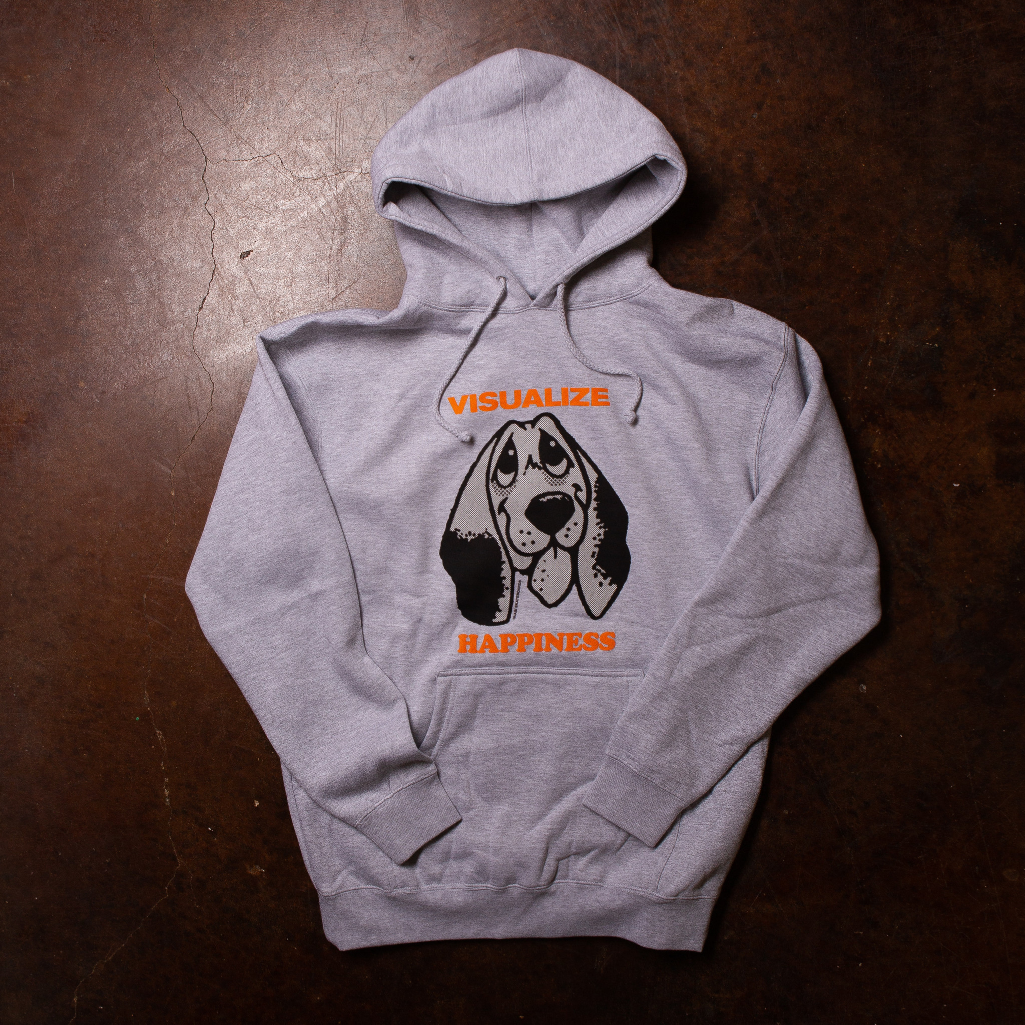Quasi Happiness Hoodie Heather Grey