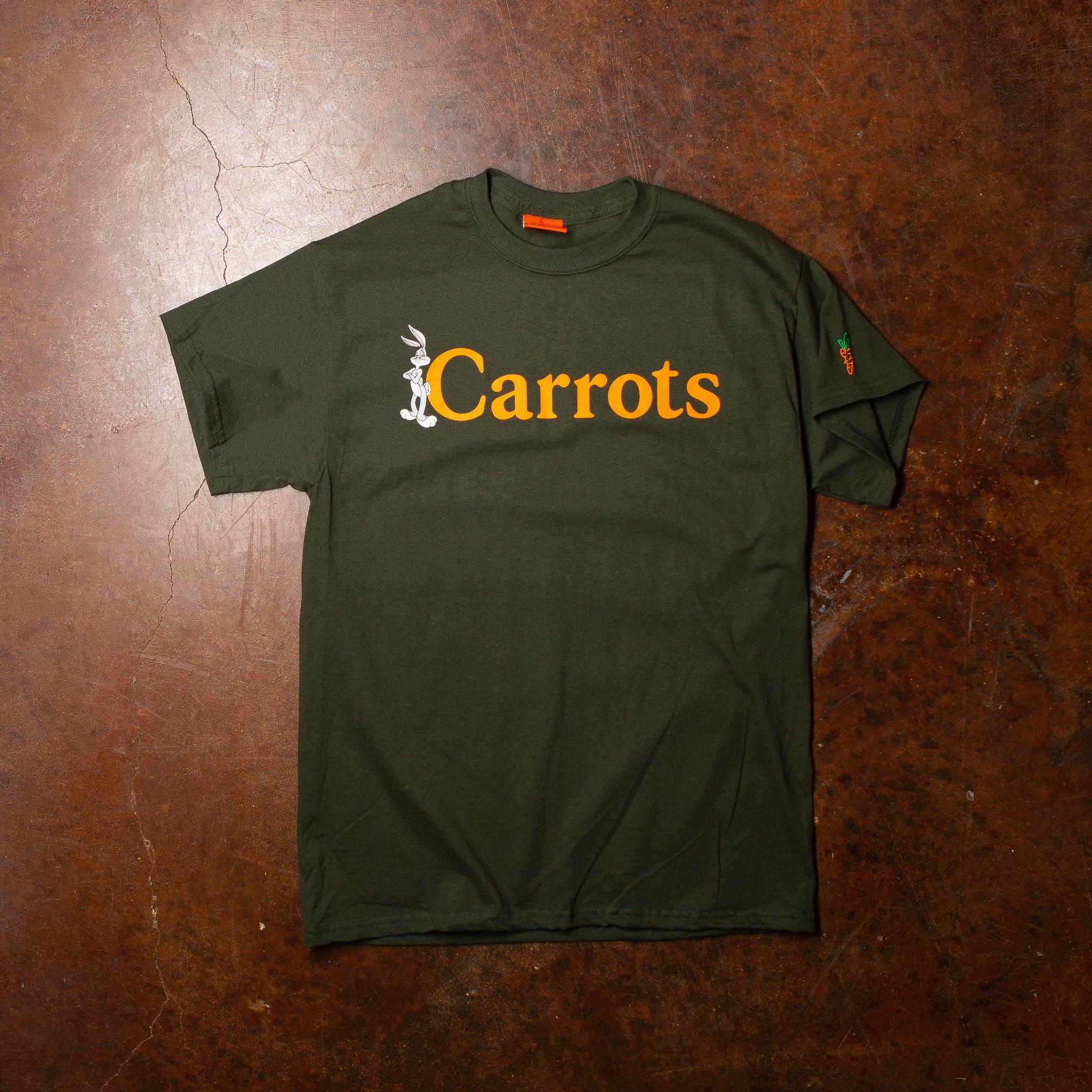 Carrots Bugs Wordmark Tee Forest