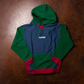 XLarge XLarge Brand Paneled Pullover Hooded Sweatshirt