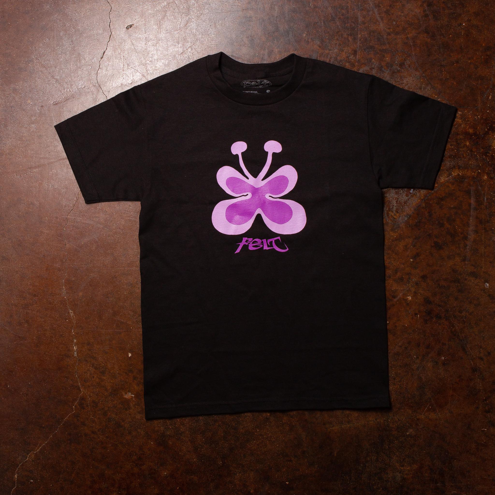 FELT Toon Butterfly Tee Black