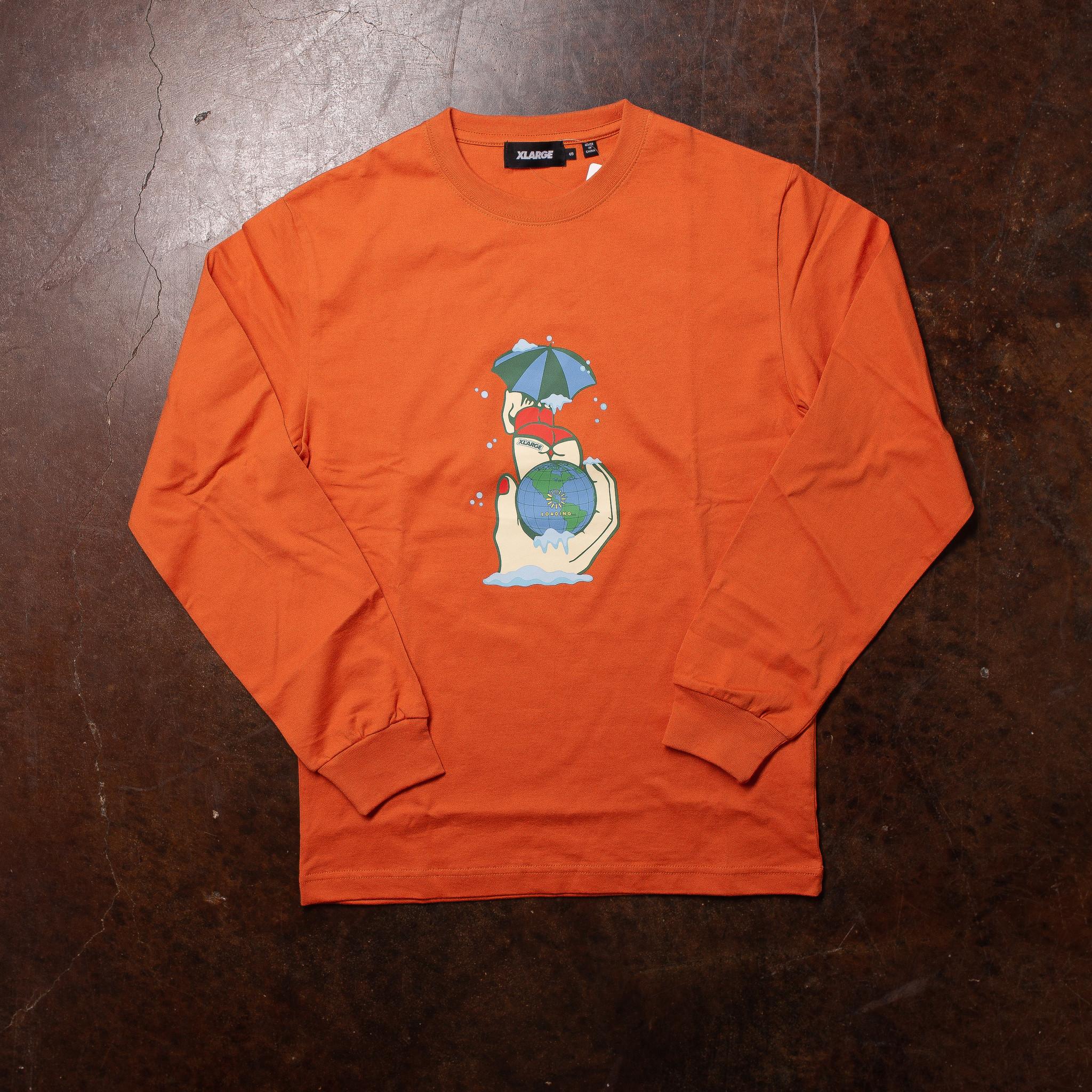 XLarge Loading Long-Sleeve Rust Orange