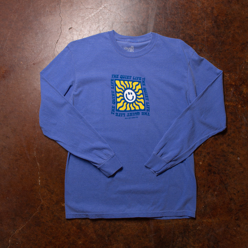 The Quiet Life Blue Sunshine LS Pigment Tee Dyed