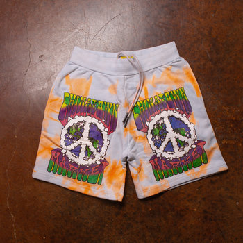 Chinatown Market Chinatown Market Peace On Earth Clouds Shorts Tiedye