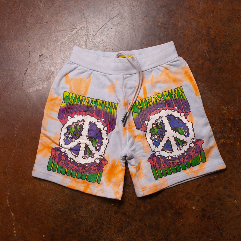Chinatown Market Peace On Earth Clouds Shorts Tiedye