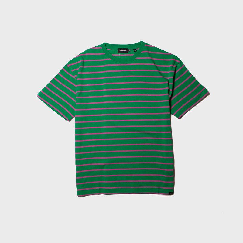 XLarge Stripe Tee Green