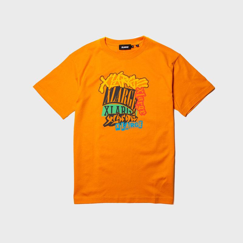 XLarge Sticker Bomb Tee Orange