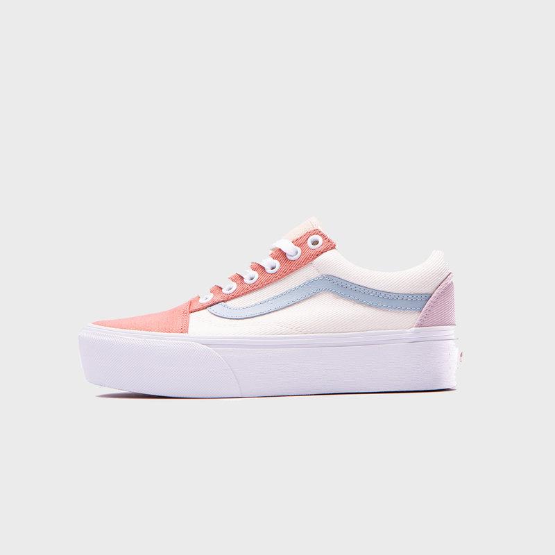Vans Old Skool Platform (twill) pastel/block/white