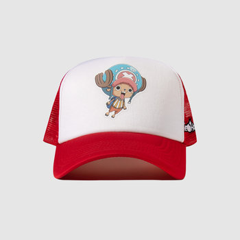 The Hundreds x One Piece Chopper Trucker Hat  Red