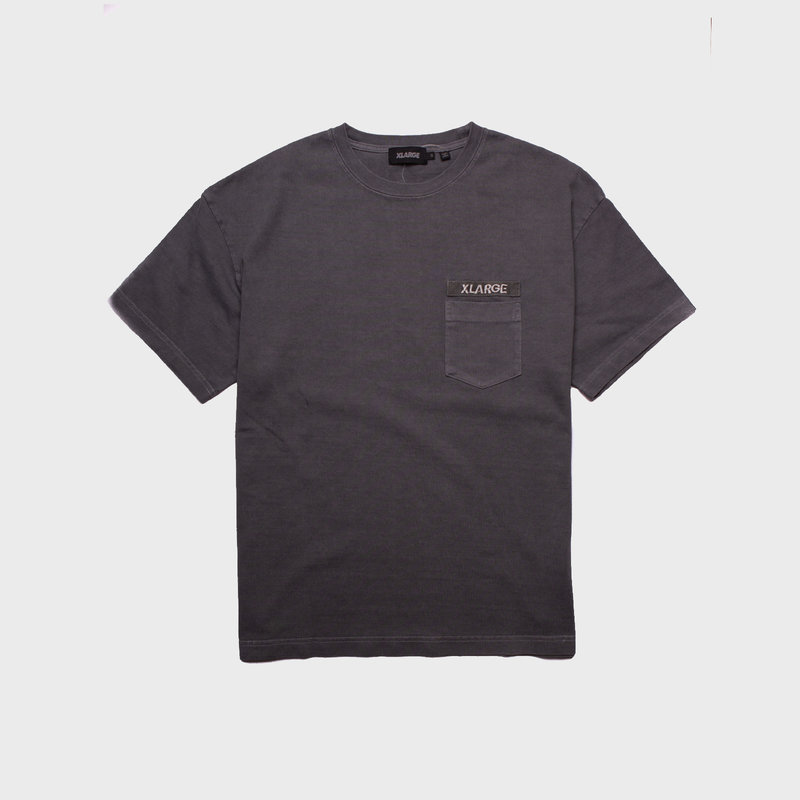 XLarge Heavy Weight Pigment Pocket Tee Black