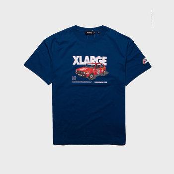 XLarge Vintage Race Car Tee Blue