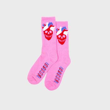 Strangelove Heart Logo Socks Pink