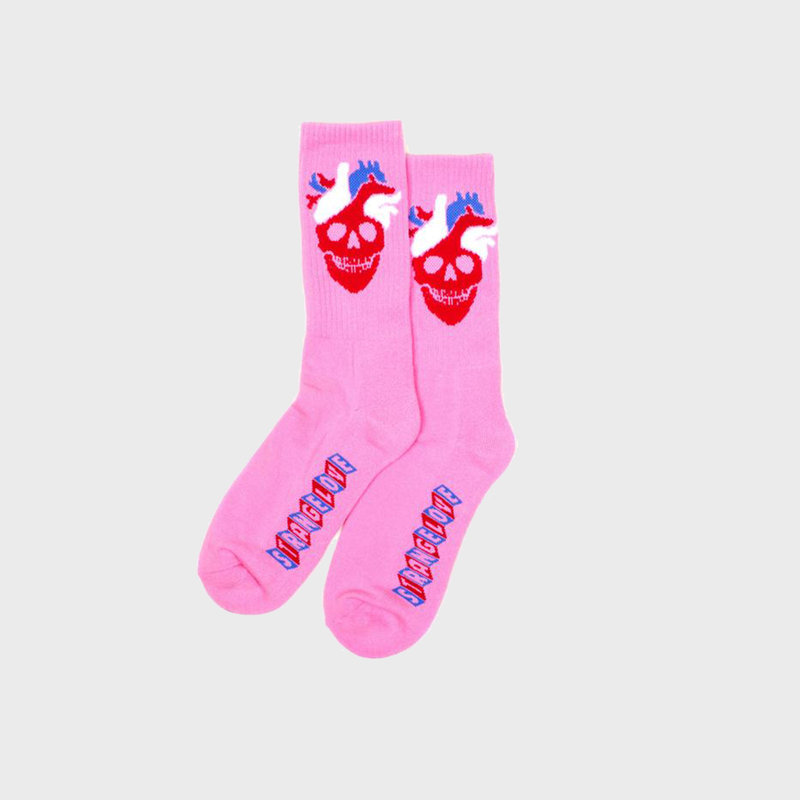 Strangelove Strangelove Heart Logo Socks Pink