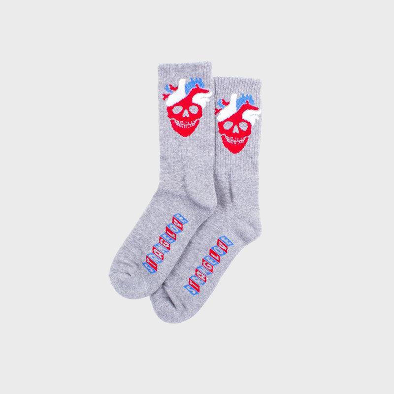 Strangelove Strangelove Heart Logo Socks Grey