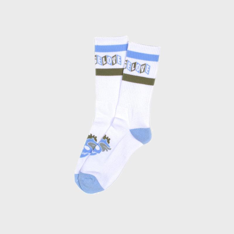 Strangelove Strangelove CineLogo Stripe Socks White