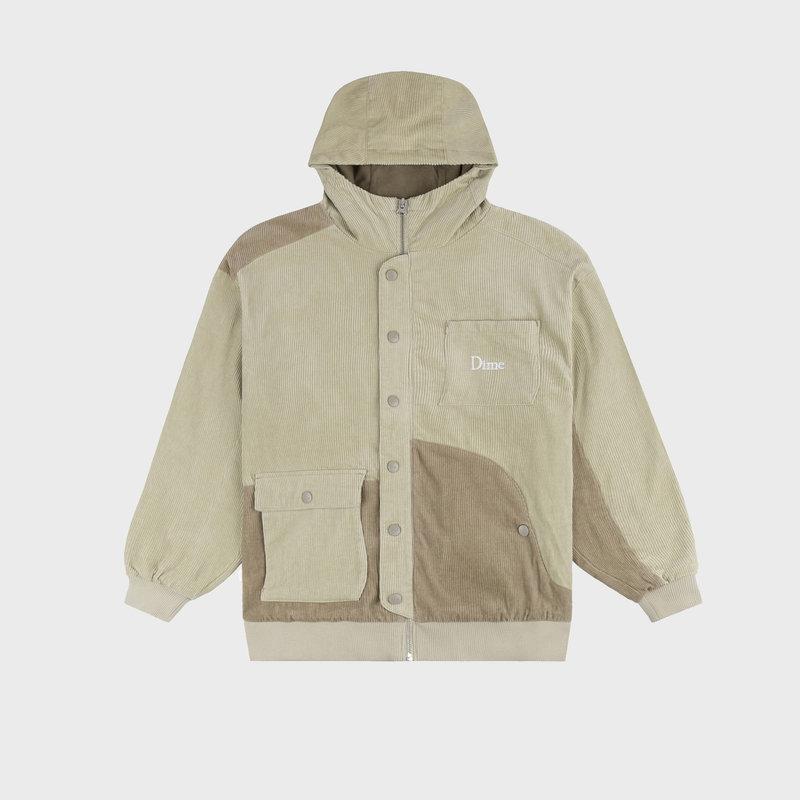 Dime Dime Corduroy Hooded Jacket Tan