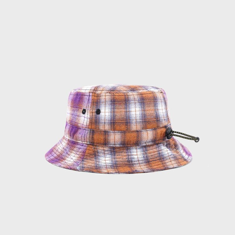 Butter Goods Butter Goods Patchwork Plaid Bucket Hat Brown/Purple