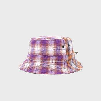Butter Goods Patchwork Plaid Bucket Hat Brown/Purple