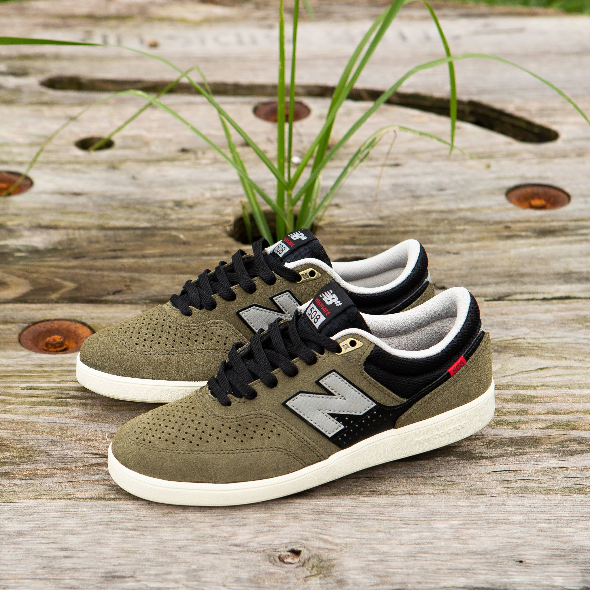 The 508 from New Balance in Dusty Olive and Black