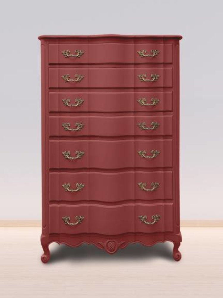 Autentico Vintage furniture paint, color  Passion Red