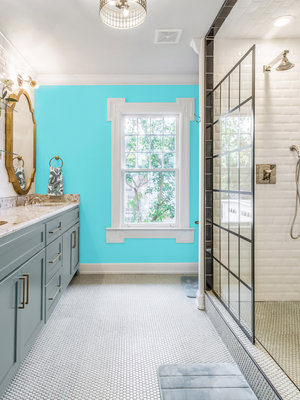 Versatile, washable paint for inside and outside, color Bright Turquoise