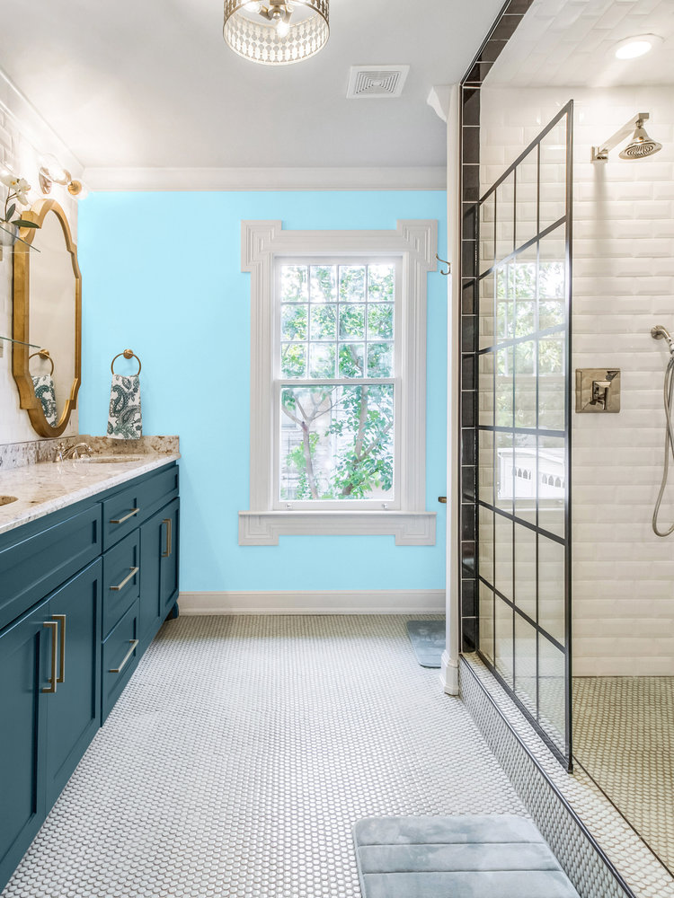 Versatile, washable paint for inside and outside, color Bleu Clair