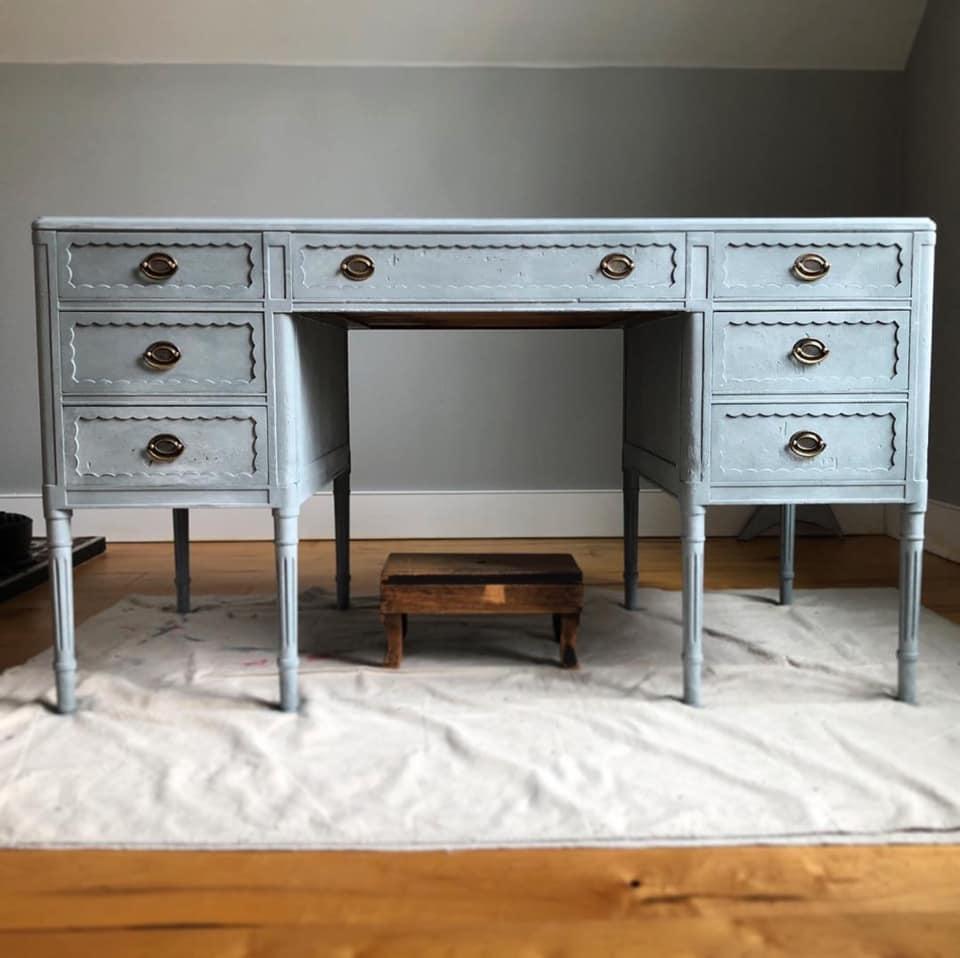 Scandinavian Blue desk