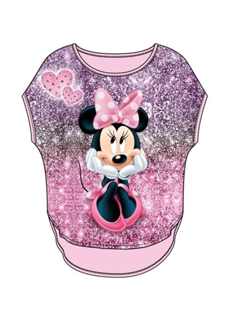 Jerry Leigh MINNIE SPARKS SUBLIMATED GLITTER TOP