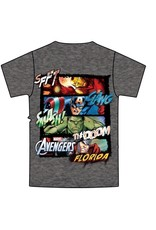 Jerry Leigh AVENGERS 4 SQUARE FL KIDS TEE