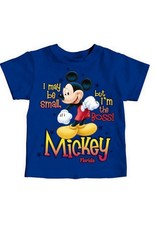 "Jerry Leigh ""I'M THE BOSS"" MICKEY FL TODDLER TEE"
