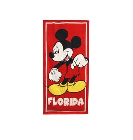 Jerry Leigh FL CLASSIC MICKEY RED BEACH TOWEL