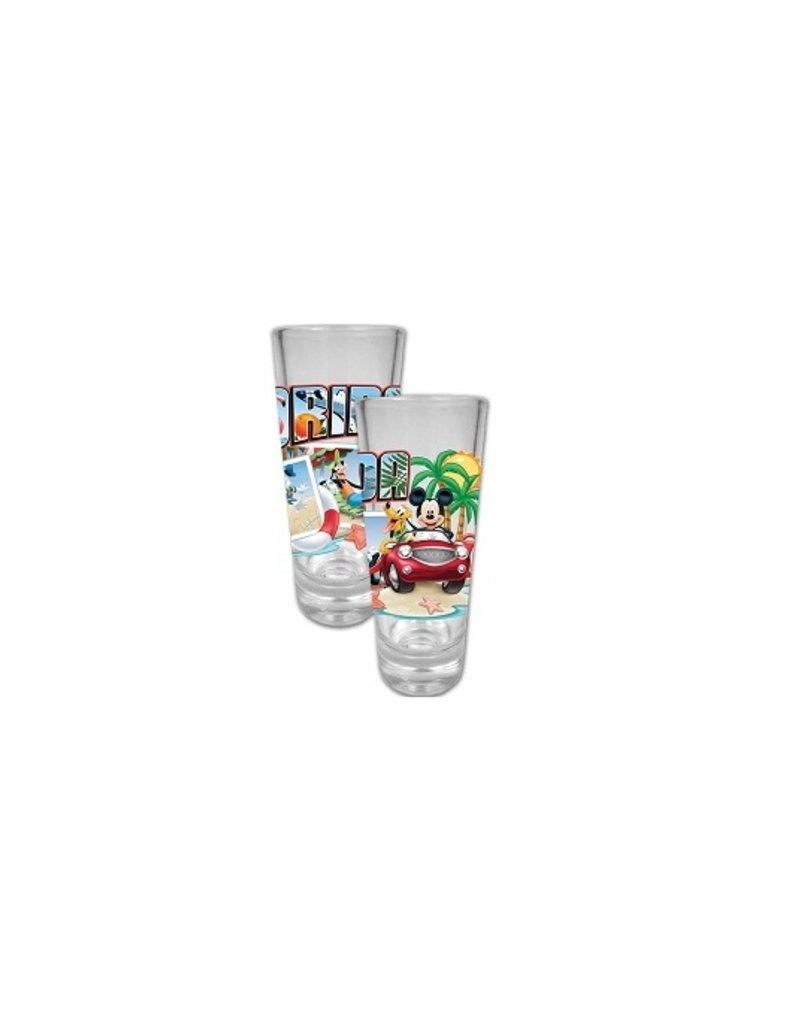 Jerry Leigh FL MICKEY POST COLLECTION SHOT GLASS