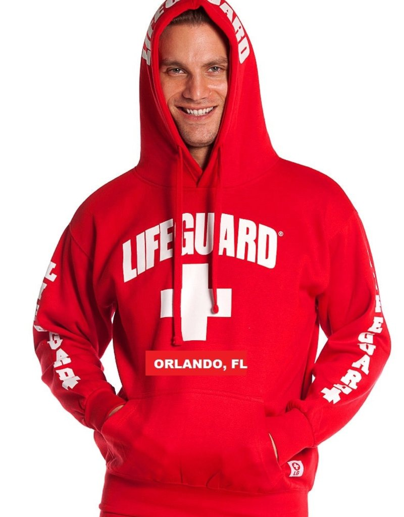RED LIFEGUARD SWEATSHIRT