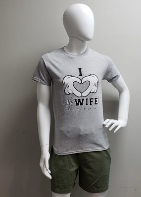 USGF I LOVE MY WIFE MICKEY GLOVES TEE SHIRT