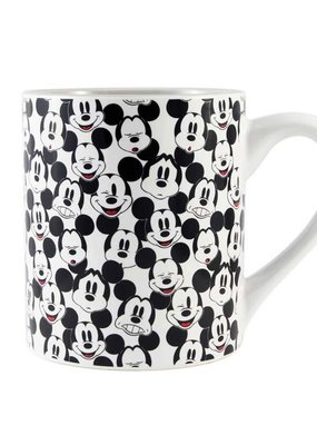SILVER BUFFALO MICKEY MOUSE FACE PATTERN14oz CERAMIC MUG