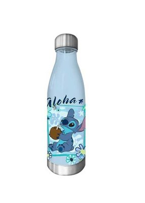 SILVER BUFFALO STITCH ALOHA CURVED BOTTLE W/SCREW TOP