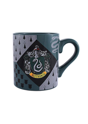 SILVER BUFFALO SLYTHERIN HOUSE CREST MUG